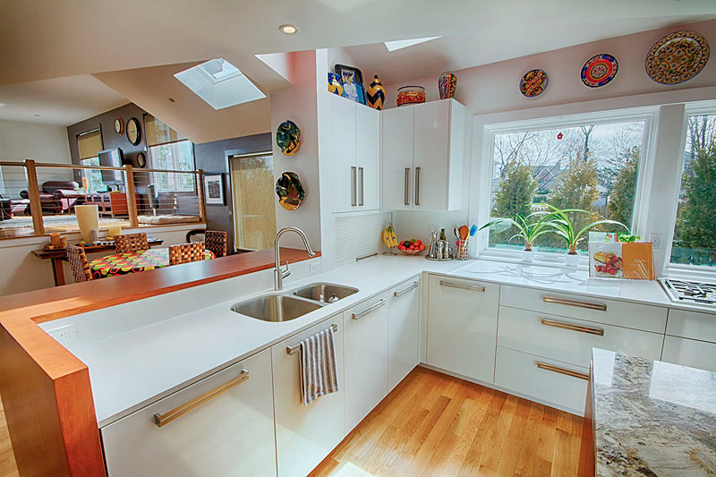 Mottl Builders and Cabinets - Belmont Modern Kitchen Project